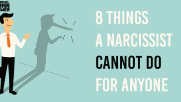 things narcissists cannot do