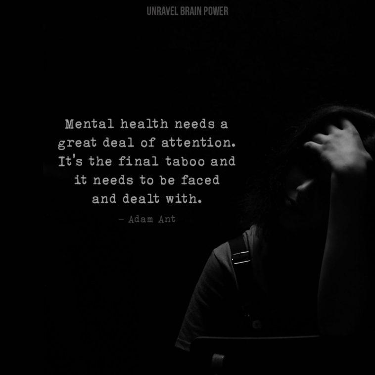 Adam Ant quotes on mental health