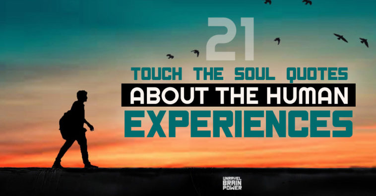 21 Touch The Soul Quotes About The Human Experiences