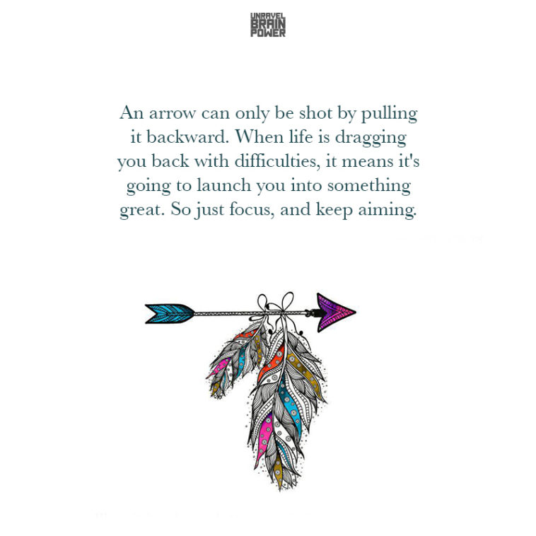 An Arrow Can Only Be Shot By Pulling It Backward ...