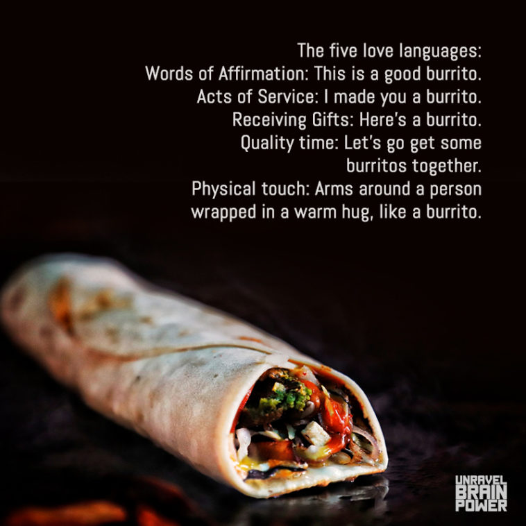 The five love languages: Words of Affirmation ,Acts of Service