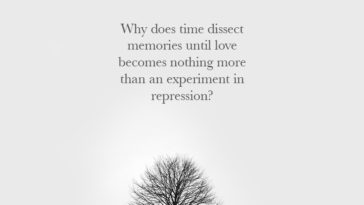 Why Does Time Dissect Memories Until Love Becomes Nothing More