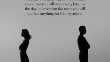 Every Time You Forgive Him, He Will Love You