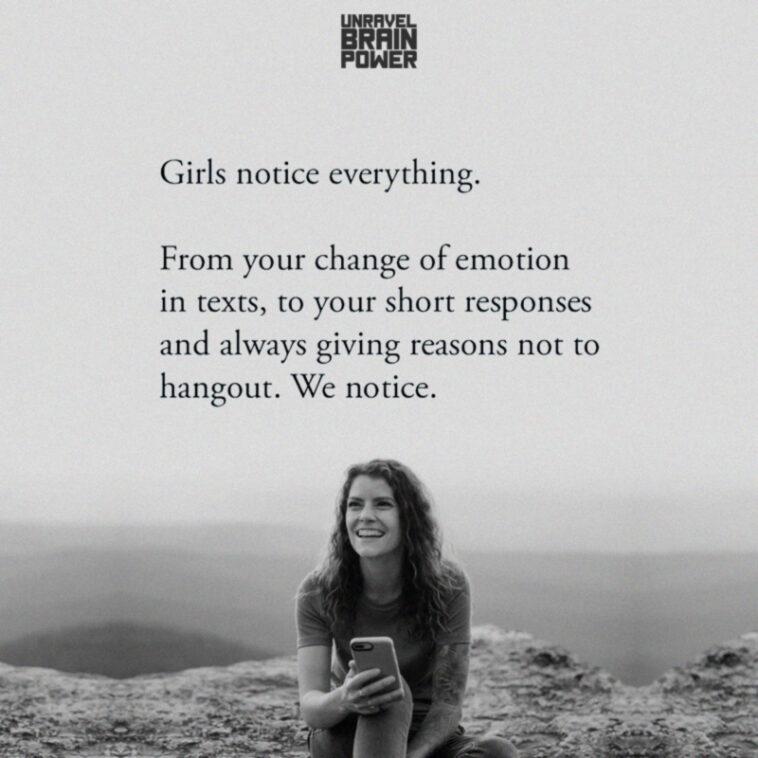 Girls notice everything.