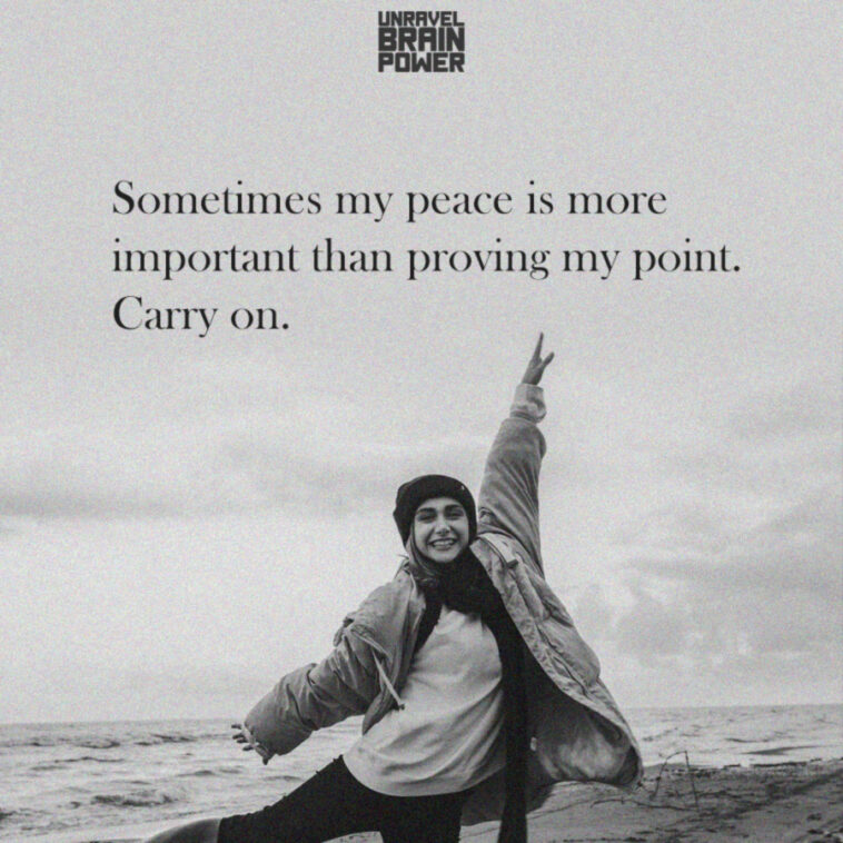 Sometimes my peace is more important than proving my point. Carry on.