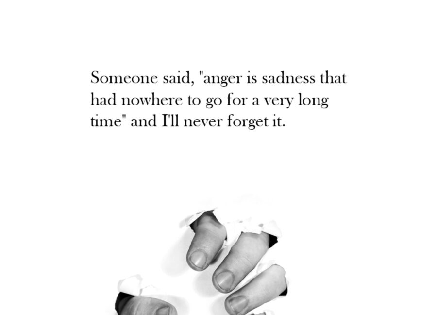 anger is sadness