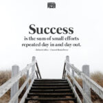 Success is the sum of small efforts repeated day in and day out