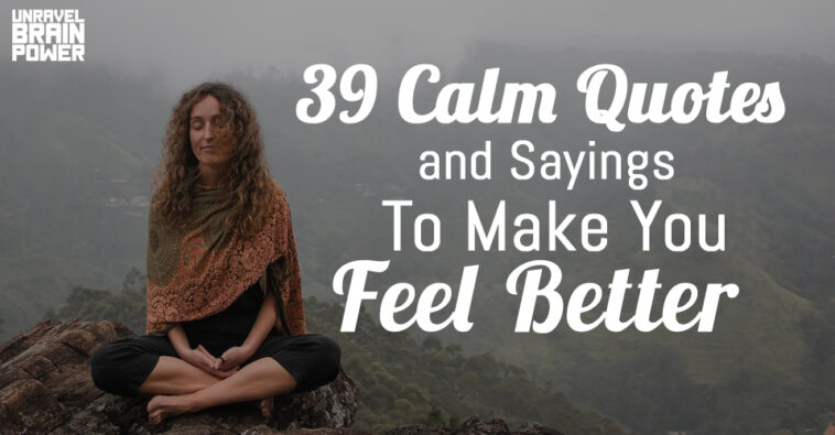 37 Calm Quotes and Sayings To Make You Feel Better