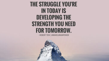 The struggle you're in today is developing the strength you need tomorrow.