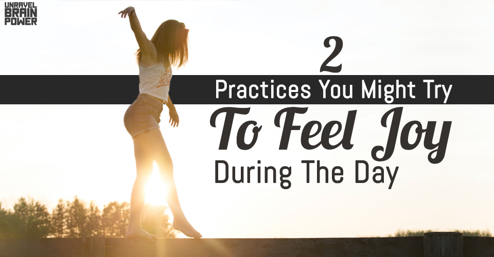 2 Practices You Might Try To Feel Joy During The Day