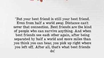 But Your Best Friend Is Still Your Best Friend