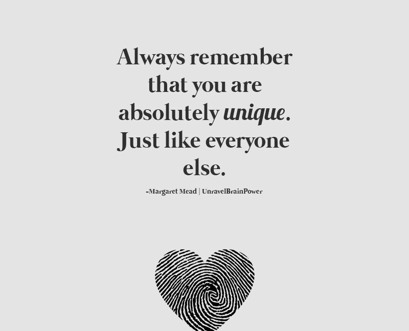 Always Remember That You Are Absolutely Unique
