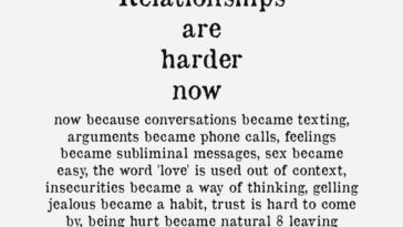 Relationships Are Harder Now